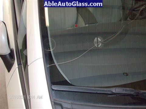 Toyota Prius 2010-2011 Windshield Replaced- close-up of crack