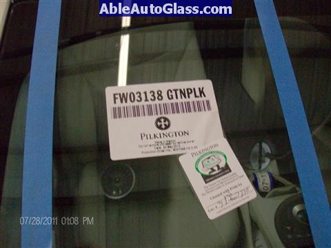 Toyota Prius 2010-2011 Windshield Replaced - FW03138GTN Pilkington DOT 177