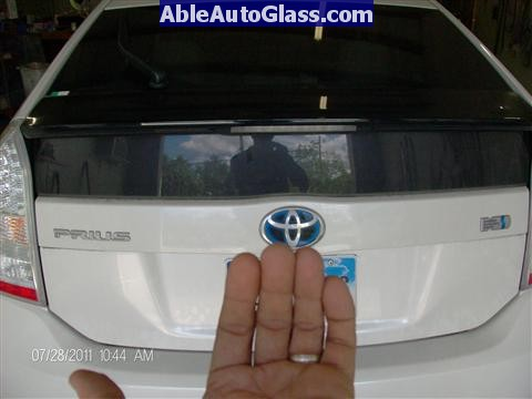 Toyota Prius 2010-2011 Windshield Replaced - rear view