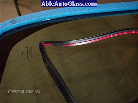 Toyota Prius 2010-2011 Windshield Replaced - red tape cover