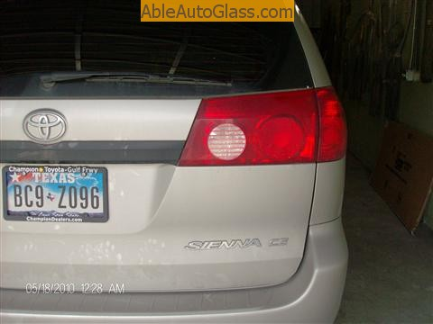 Toyota Sienna Windshield Replace - rear view