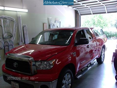 Toyota Tundra 2007-2011 Ext Red Pickup Front View