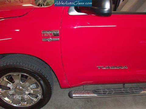 Toyota Tundra 2007-2011 Ext Red Pickup Side View
