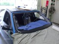 BMW 5451 2005 Windshield Replace Houston, TX-Windshield Removed