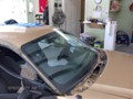 Ford Mustang 2000 Front Windshield Replacement - Looking From Side