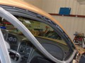 Ford Mustang 2000 Front Windshield Replacement - View Under Door Rubber Molding