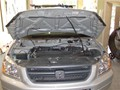 Honda Pilot 2003-2008 Windshield Replace - Cowl and Wiper Removed - View Under Hood