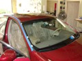 Infiniti M35 2007 Windshield Replacement - Drip Rail Molding Removed