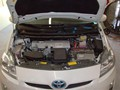 Toyota Prius 2010-2011 Windshield Replaced - view under hood