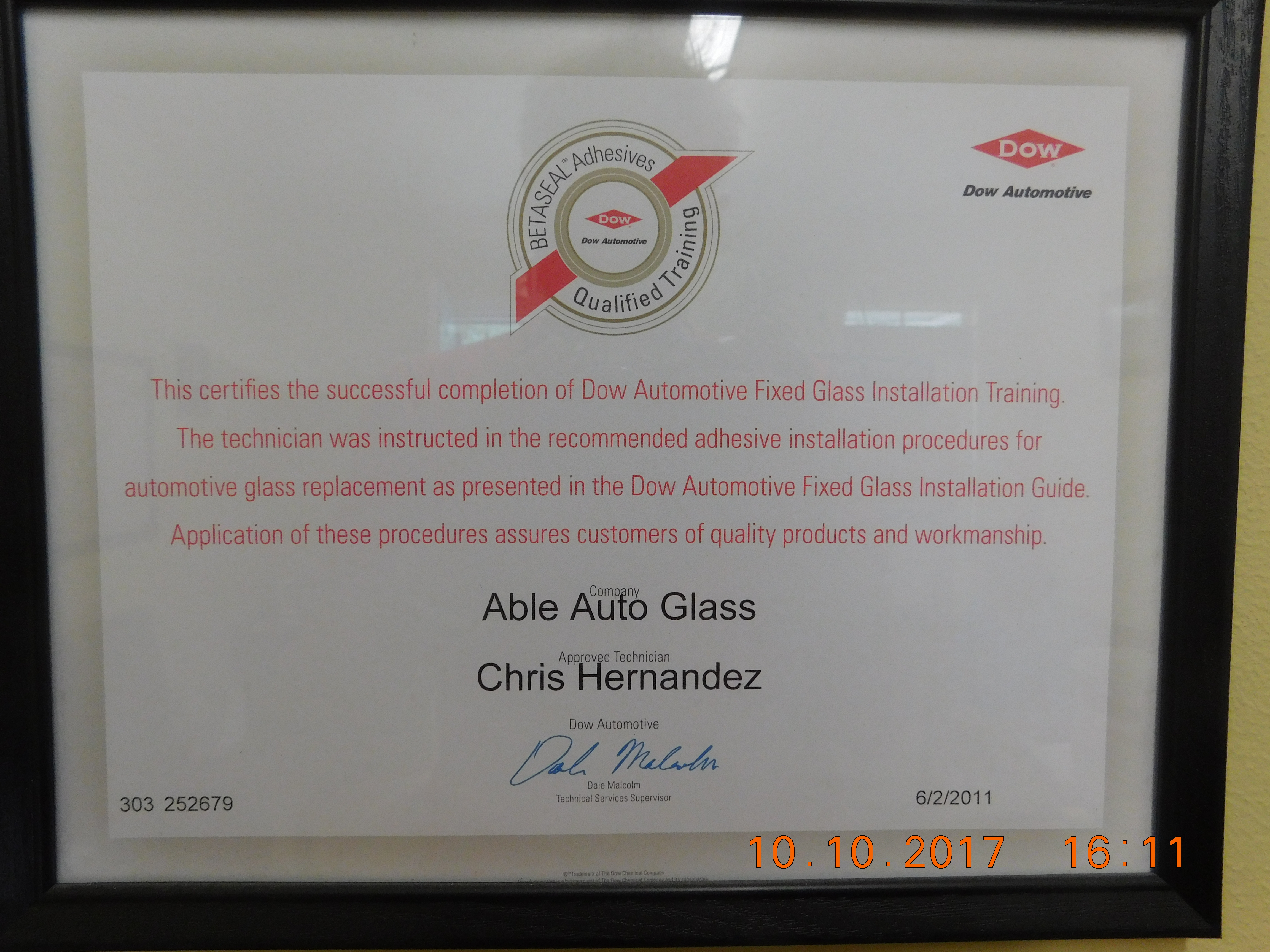 Chris Dow Automotive Certified
